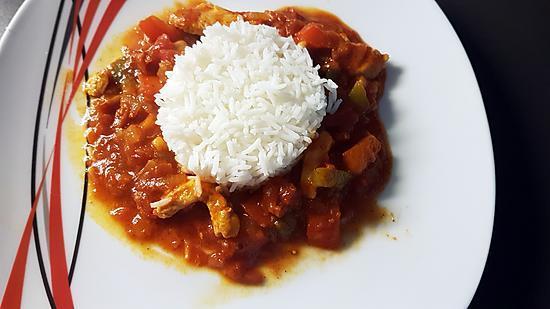 recette Poêlée aux poivrons et blanc de poulet