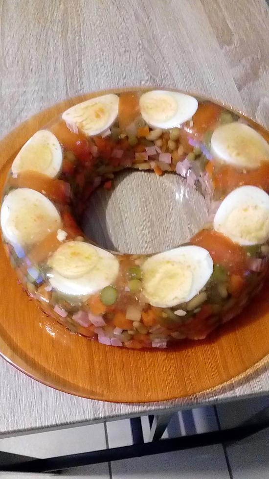 recette couronne de légumes en gelée