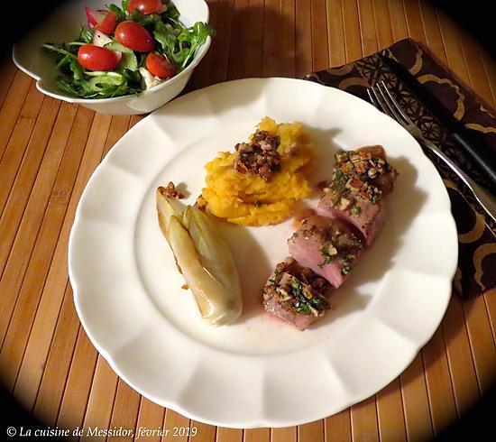 recette Filet de porc en croûte de pacanes à l'orange +