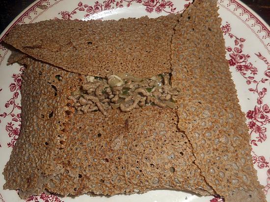 recette Galette de sarassin au boeuf haché