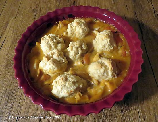 recette Poulet aux pommes, une seconde vie +
