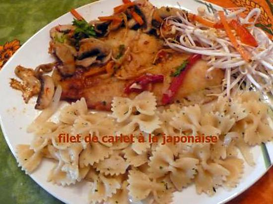 recette FILET DE CARLET A LA JAPONAISE