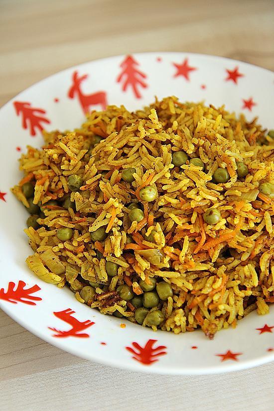 recette de riz au curry carottes et petits pois par ladyhel. Black Bedroom Furniture Sets. Home Design Ideas