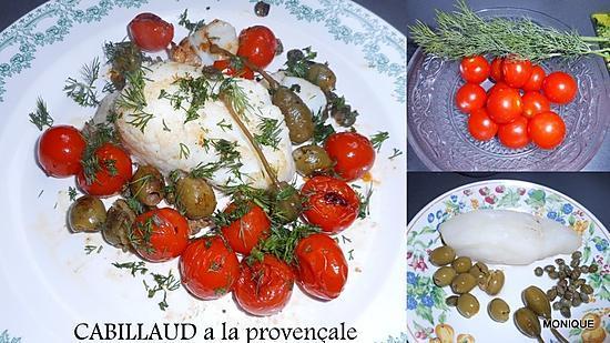 recette DOS DE CABILLAUD a la provençale