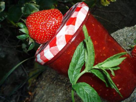 confiture de fraise a la map