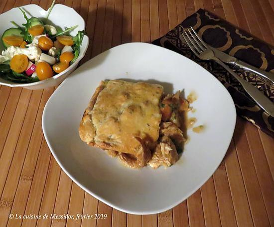 recette Pâté au poulet express à l'indienne +