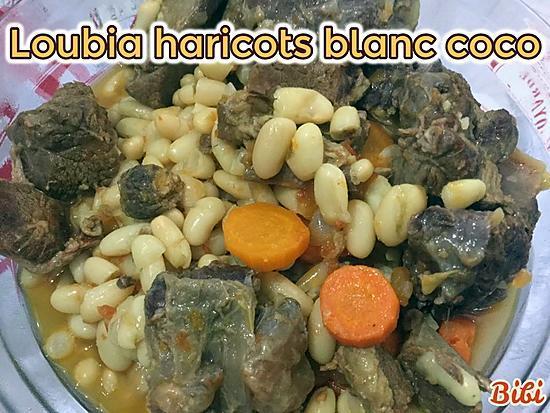 recette LOUBIA HARICOTS BLANCS COCO à la cocotte minute