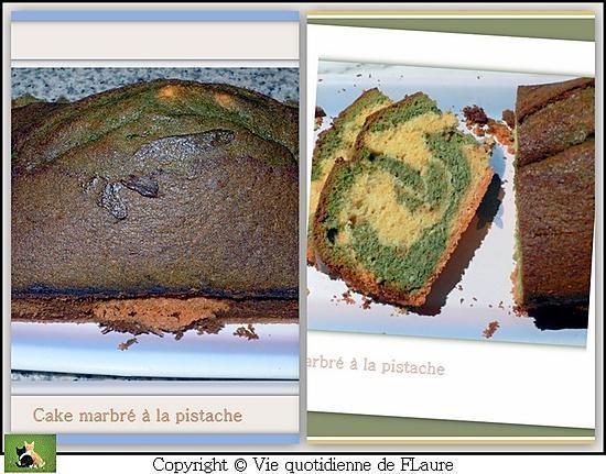 recette Cake marbré à la pistache