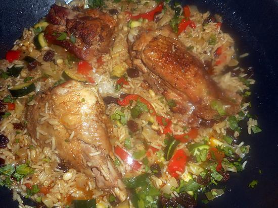 recette Cuisse de dinde riz pilaf aux légumes