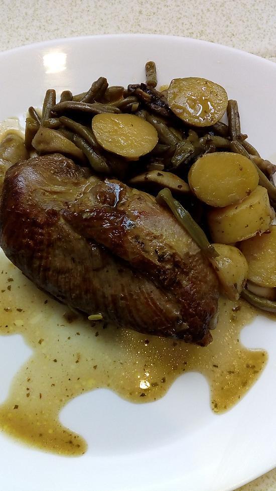 recette filet de canard aux légumes