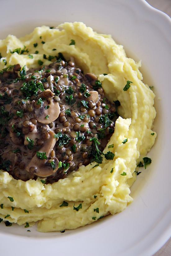 recette Lentilles Crémeuses aux Champignons