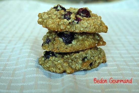 recette Biscuits moelleux à l'avoine et bleuets