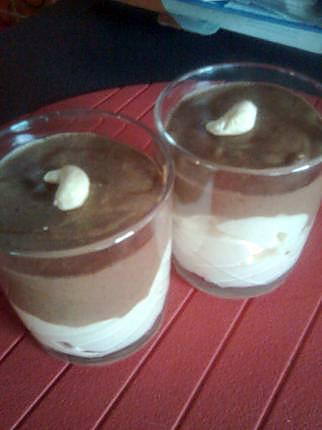recette crème mousseuse à la vanille et sa mousse légère au chocolat