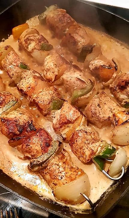 recette Brochettes de poulet maison sauce paprika
