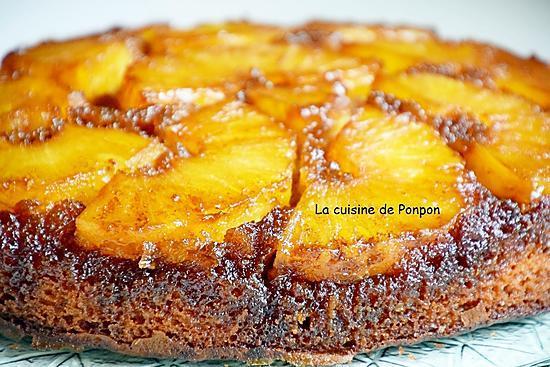 recette Gâteau à l'ananas frais caramélisé à la cassonade