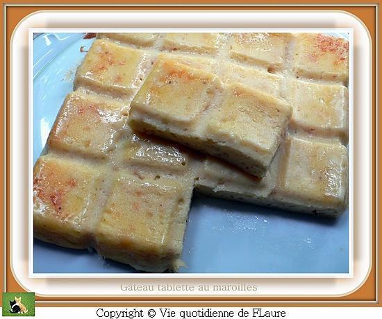 recette Gâteau tablette au maroilles