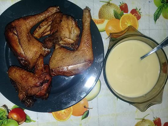 recette Sauce vinaigrette plus poulet