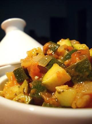 recette Courgettes à la tomate et au cumin...