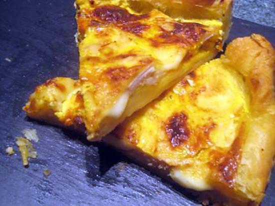 recette Tarte poulet-morbier