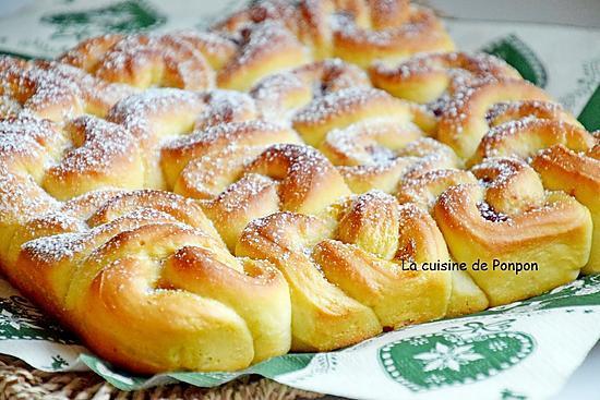 recette Brioche bouclette à la crème de marron ou confiture de figues