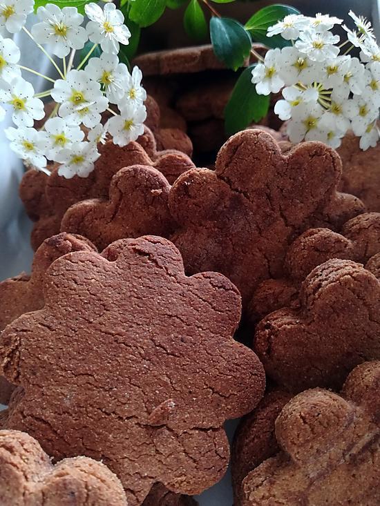 recette Sablés à la farine de châtaigne & pépites de chocolat