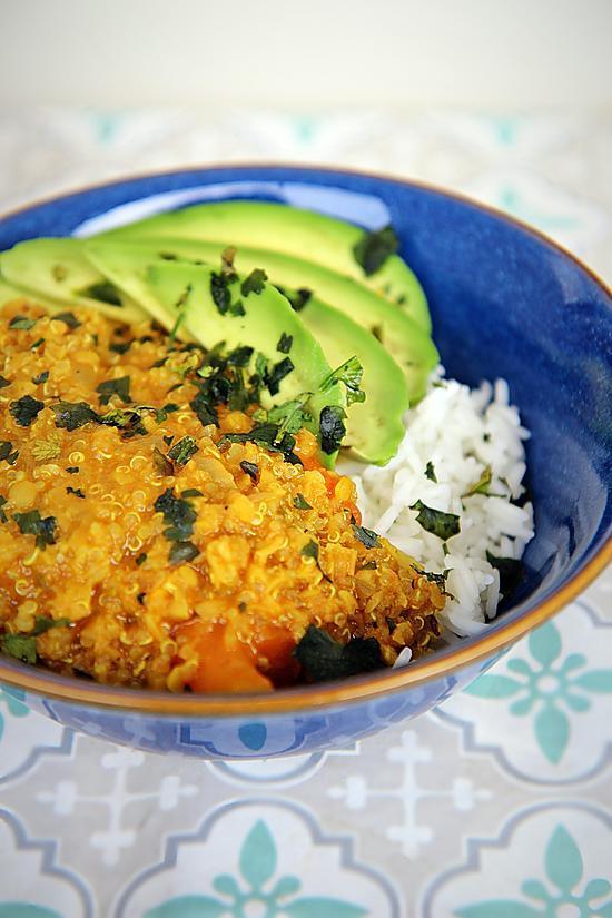 recette Crémeux lentilles quinoa au lait de coco