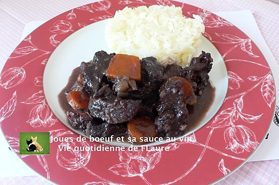 recette Joues de bœuf et sa sauce au vin