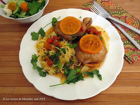 recette Braisé de poulet aux clémentines +