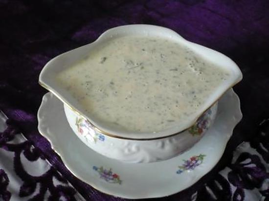 recette Sauce au bleu d'auvergne