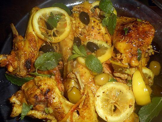 recette Poulet au citron et aux olives