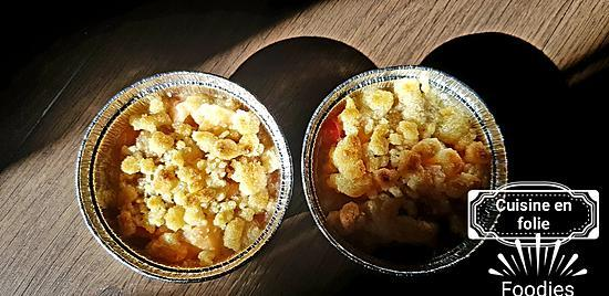 recette Crumble pomme-rhubarbe