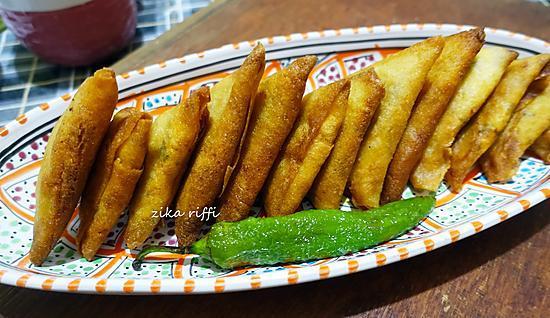 recette Boureks triangles pommes de terre poulet et fromage