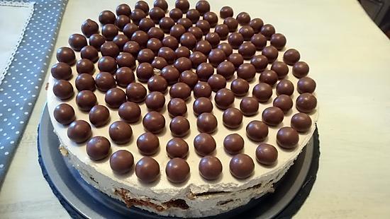 recette Gâteau à la crème de mascarpone et aux spéculoos