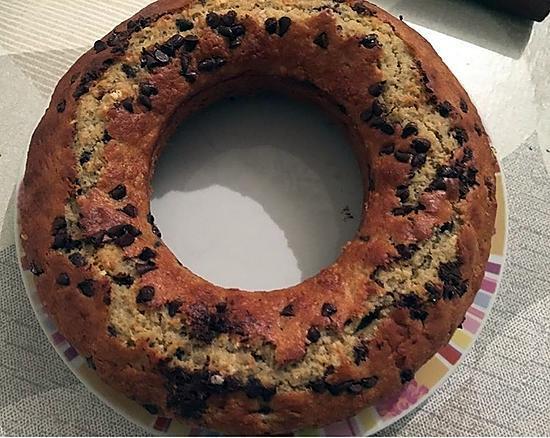 recette CAKE A LA BANANE ET PEPITE DE CHOCOLAT