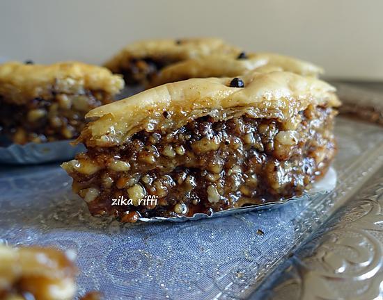 recette Authentique baklawa bônoise aux noix et eau des cendres