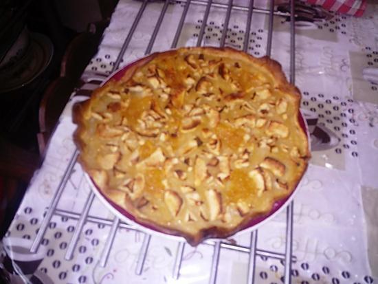 recette tarte  pommes a la normande  de lilimarti
