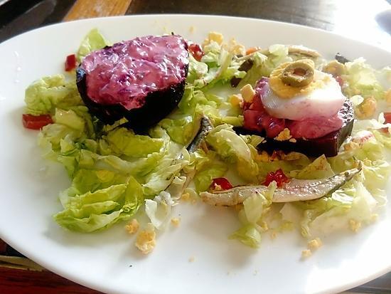 recette betteraves    farcies  au  roquefort    de carmen sur les foodies