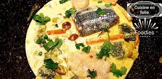 recette Ma blanquette de poisson au curcuma et à la coriandre