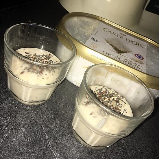 recette Milk shake banane brugnon chocolat blanc