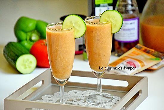 recette Gaspacho andalou de l'académie du goût, végétarien