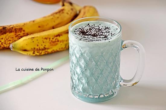 recette Smoothie banane, linette et spiruline