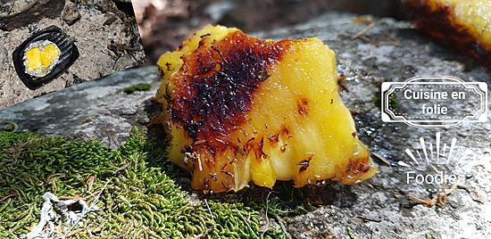 recette Ananas à la braise, marinade au rhum ambré
