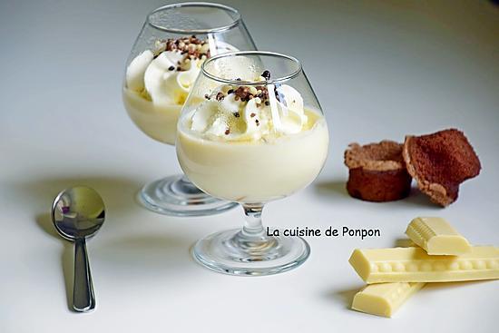 recette Crème au chocolat blanc, sans oeuf et sans farine
