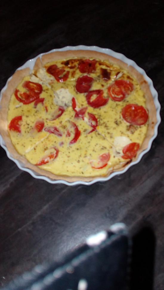 recette Tarte estivale poulet/tomates