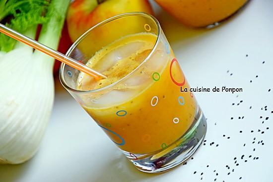 recette Jus vitaminé pomme, fenouil et graines de chia, vegan