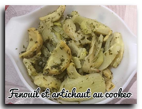 recette SALADE FENOUILS ET FONDS D'ARTICHAUTS AU COOKEO