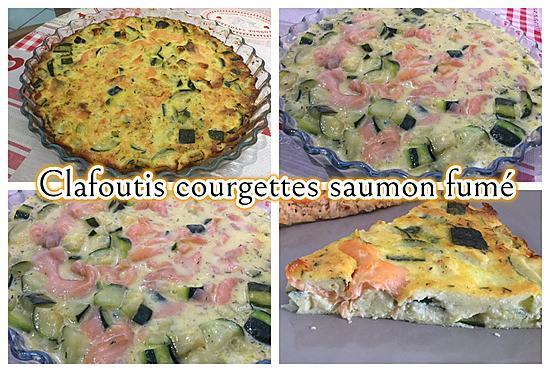 recette CLAFOUTIS COURGETTES ET SAUMON FUME