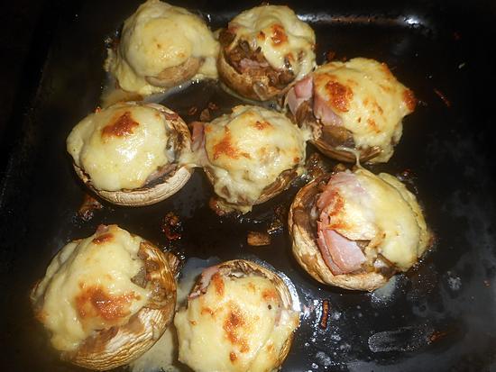 recette Champgnons farcis au jambon fromage
