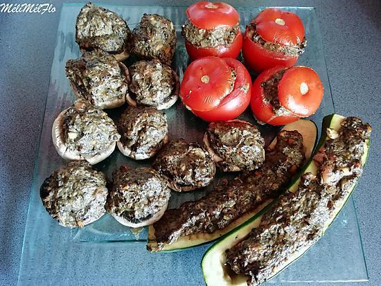 recette Légumes farcis à la saucisse de foie