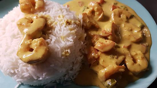 recette Curry de Crevettes Aux Poivrons et Lait de Coco